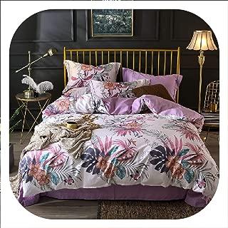 SHILINWEI Egyptian Cotton Twin Queen King Size Bedding Set Bedsheet Fitted Sheet Duvet Cover Bed Set Pillowcase Ropa De Cama Parure De Lit,Bedding Set 5,Queen Size 4Pcs,Bed Sheet Style