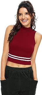 Dream Beauty Fashion Striped Sleeveless Crop T-Shirt