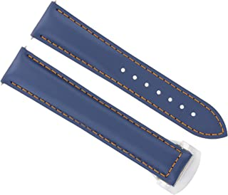 20MM Leather Strap Watch Band 41MM Omega SEAMASTER 300 or Planet Ocean Blue #21