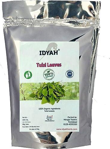 Idyah Natural Tulsi Leaf Leaves Ocimum Sanctum Holy Basil Powder For Health Skin Hair 100 gram