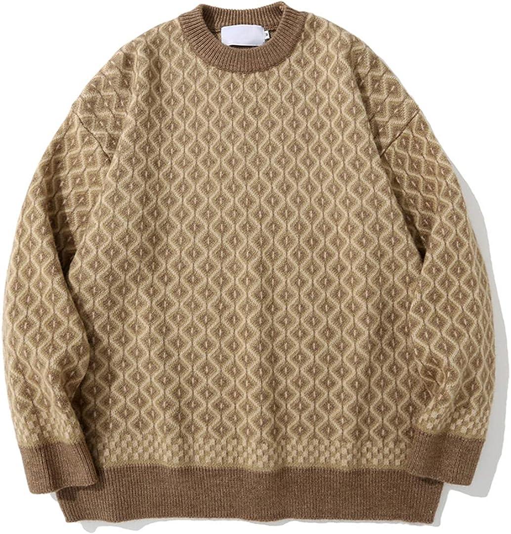 Men Autumn Winter Sweater Streetwear Casual Pullover Tops Loose Harajuku Sweaters