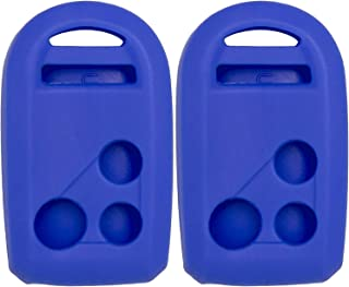 Pair of Blue Silicone Rubber Key Fob Covers Fits Honda Goldwing Motorcycle Remote 2012 2013 2014