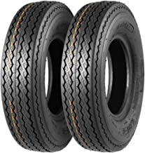 MaxAuto Set of 2 4.80-8 Highway Boat Motorcycle Trailer Tires 4.80x8 6PR Load Range C