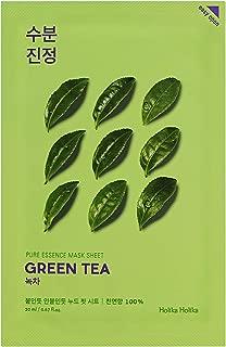 [Holika Holika] Pure Essence Mask Sheet 20ml Green Tea, Pack of 10, 100% Natural Tencel Sheet, Easy to Open
