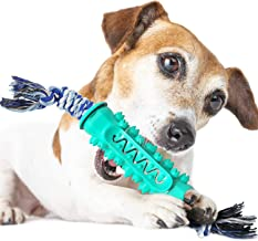 Tang-CN Dog Chew Toy for Aggressive Chewers, Dog Toothbrush Chew Toy Stick Non-Toxic Rubber Dog Toy for 15-30 LBS Small Me...