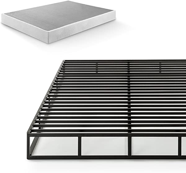 Zinus Victor 7 5 Inch Quick Lock Smart Box Spring Mattress Foundation Strong Steel Structure Easy Assembly King