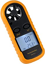 Amgaze Anemometer, Digital LCD Wind Speed Meter Gauge Air Flow Velocity Measurement Thermometer for Windsurfing Kite Flying Sailing Surfing Fishing