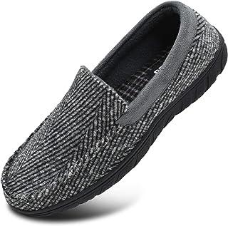 KuaiLu Zapatillas de Estar En Casa Hombre Primavera Zapatillas de Moccasin Espuma de Memoria de al Aire Libre Antideslizan...