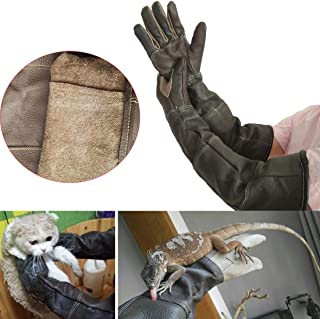 LJNGG Anti-Scratch Anti-bite Gloves Pet Dog Cat Snake Lizard Bird Animals Handling Protection Protective Gloves for Feed Bath Groom (Palm Width 3.15