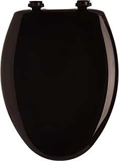 Bemis 1200SLOWT 047 Slow Sta-Tite Elongated Closed Front Toilet Seat, Black, 18.75 x 14.00 x 2.31 inches,