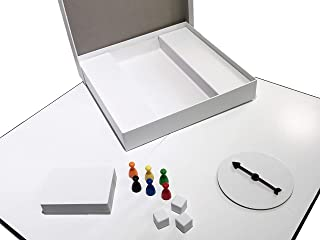 Apostrophe Games Create Your Own Board Game (Blank Game Board, Box & Accessories) with Game Pieces, Blank Cards, Blank Spinner & Dice