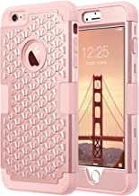 ULAK iPhone 6 Plus Case, iPhone 6S Plus Case Glitter,Bling Rhinestone Heavy Duty Shockproof Hybrid Hard PC Soft Silicone Scratch Protective Case for iPhone 6 Plus/iPhone 6s Plus 5.5 inch,Rose Gold