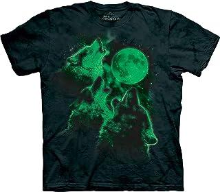 The Mountain Men's Glow Wolf Moon Shirt, Black