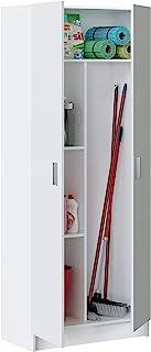 Loungitude FOARM7142O Armoire Rangement 2 Portes, Bois, Bianco, 73 x 37 x 180