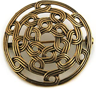 Bronze Viking Shield Brooches,Clothes Fasteners - Cloak, Shawl, Scarf Pin, Celtic Norse Vintage Jewelry