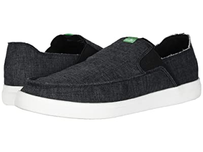 Sanuk Pick Pocket Slip-On Hemp (Black) Men