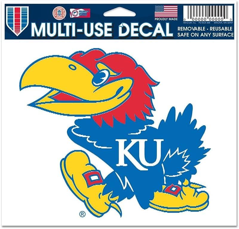 WinCraft NCAA University Of Kansas Multi Use Colored Decal 5 X 6