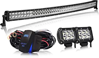 T-Former DOT 50 Inch Curved Offroad Led Light Bar Windshield Roof Bumper Lights+ 4