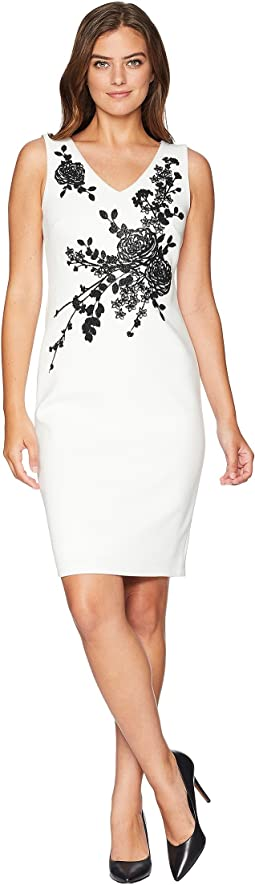 Beaded Detail Sheath Dress CD8M19PG