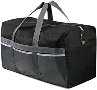 REDCAMP Extra Large Duffle Bag Lightweight, 96L Water Repellency Travel Duffle Bag Foldable for Men Women, Black