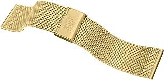 Davis B0814 -Bracelet Montre Mesh Maille Milanaise 22mm Acier Or Jaune Ajustable