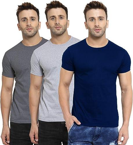 Men S Regular Fit T Shirt Pack Of 3