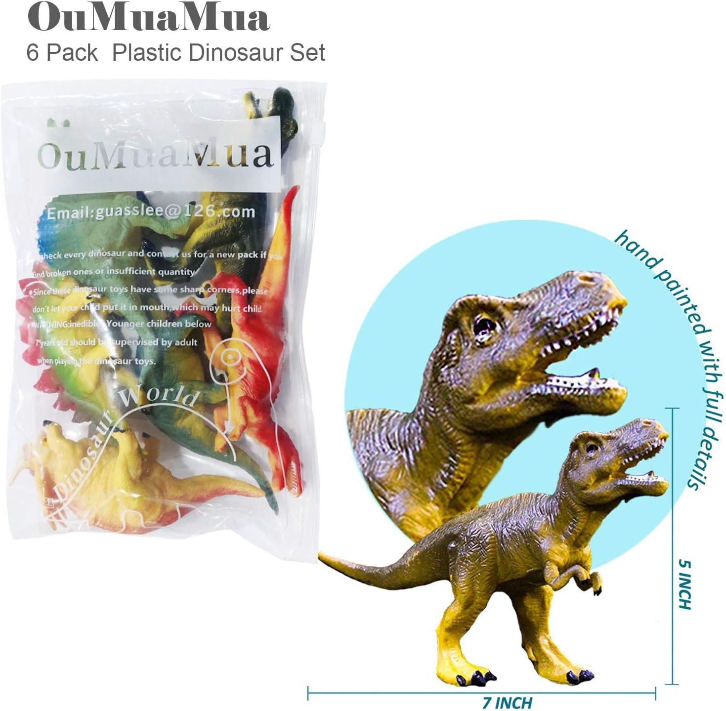 Realistic Dinosaur Figure Toys, 6 Pack 7