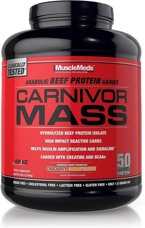 MuscleMeds 6 Lbs Chocolate Peanut Butter Carnivor Mass