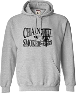 Go All Out Adult and Youth Chain Smoker Funny Disc Golf Frolf Sweatshirt Hoodie