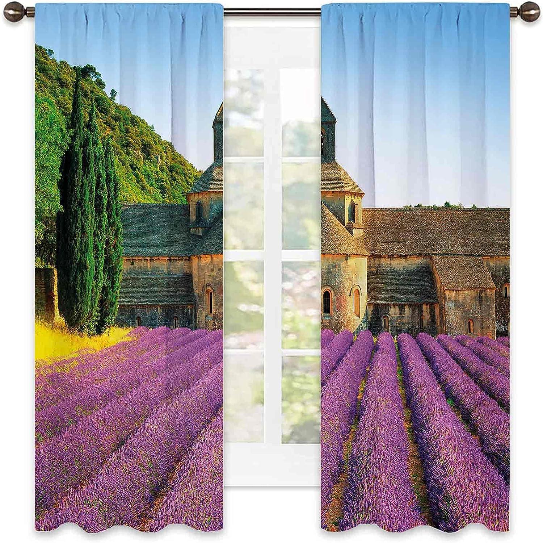 Lavender Heat Insulation Curtain Abbey France Ar Portland Mall in 5 ☆ popular Senanque of