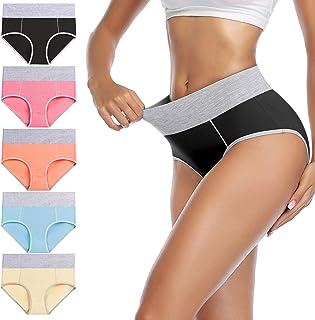 Women's High Waisted Cotton Underwear Full Coverage...