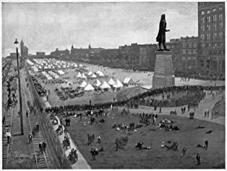Pullman Strike 1894 Ncamp Of US Army Troops On The Lakefront In Chicago During The Pullman Strike 6 July 1894 Llustration ...