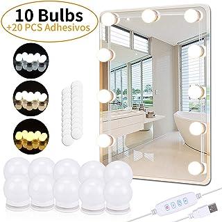 PEYOU Luces de Espejo Maquillaje, 5.5m Kit LED Luz de