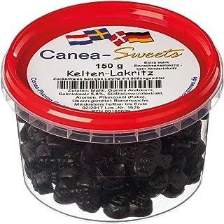 Canea-Sweets Extrastarkes zuckerfreies Salzlakritz, KELTEN Lakritz zuckerfrei Dose, 1er Pack 1 x 150 g