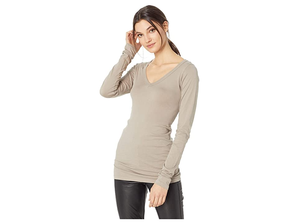 02a28050 LAmade - Neck in Tissue Jersey, White Women's Long Sleeve Pullover ...