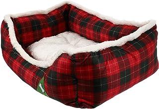POPETPOP Boże Narodzenie Motyw Dla Zwierząt Pies Łóżko Do Spania Wygodne Zwierzęta Domowe Są Hut Kot Schronienie
