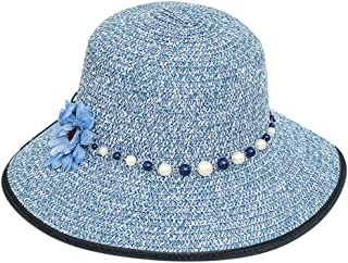 hositor Sun Hats for Women, Ladies Casual Wide Brimmed Floppy Foldable Straw Beach Hat