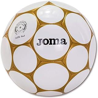 Joma - Balón de fútbol de Sala Hybrid Soccer blanco y oro de 5 m, talla 62