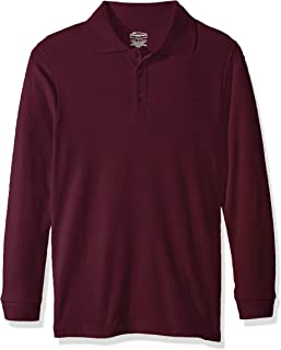 Classroom School Uniforms Boys' Youth Unisex Long Sleeve Interlock Polo