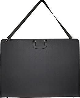 Art Portfolio Case - Artist Portfolios Case - Artist Carrying Case with Shoulder Strap, Black, 29.2 x 21.5 x 1.5 Inches