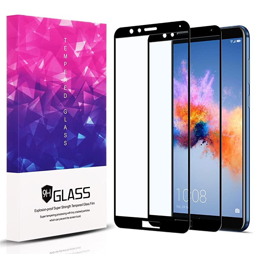 Huawei Honor 7X / Mate SE Screen Protector, 2 Packs 2.5D Full Coverage 9H Hardness Tempered Glass Screen Protector Film for Huawei Honor 7X-Black