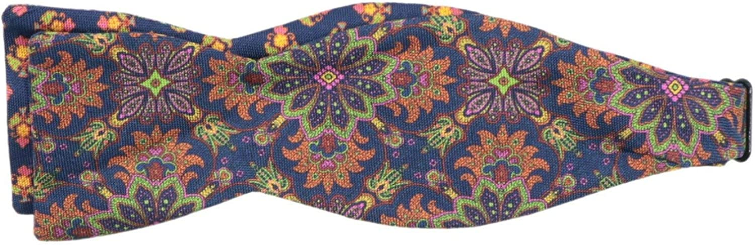 Edward Armah Men's Silk Double Sided Busy Floral and Spread Ho Bow Tie