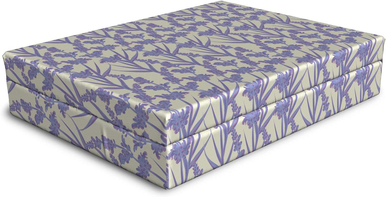 Ambesonne Botanical Max 81% OFF Dog Bed Spring Branches Lavender Wil Flower OFFicial shop