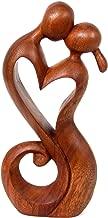 NOVICA Brown Romantic Suar Wood Sculpture , 11.75