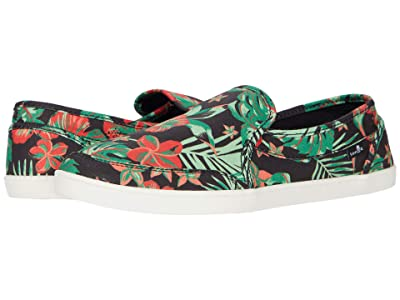 Sanuk Pair O Dice Floral (Black) Women
