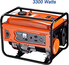 Generator 3300 Watts Super Quiet Muffler Gas Powered RV-Ready Portable CARB Compliant with Wheel Kit