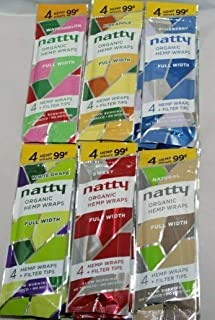 30 Packs NATTY Organic Hemp Wraps 120 Papers Watermelon Grape Sweet Blueberry Natural Pineapple + DSS Scoop Card