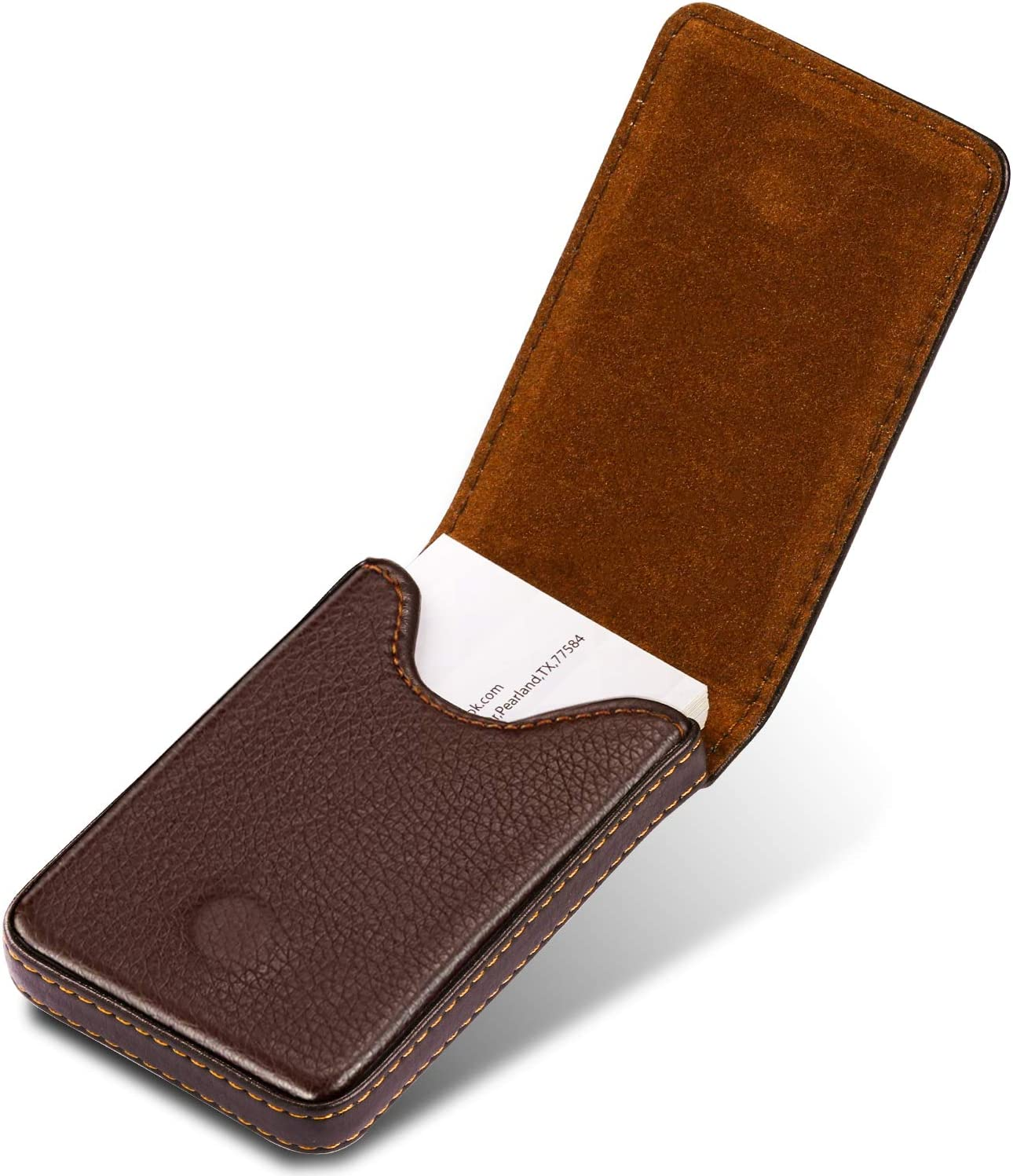 MaxGear Leather Business Card High order High quality new Men Holder Case for