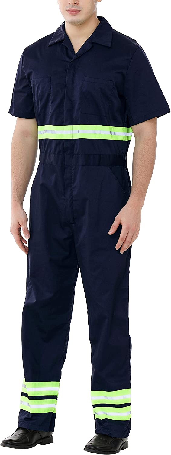 TOPTIE Men's Direct store Reflective Coverall Enhanced S Ranking TOP18 Visibility