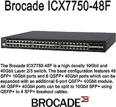 Brocade ICX 7750-48F - Switch - L3 - managed - 48 x 1 Gigabit / 10 Gigabit SFP+ + 6 x 40 Gigabit QSFP+ - rack-mountable